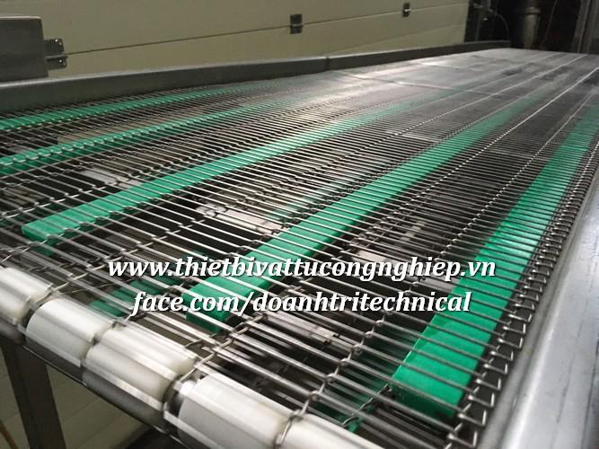 Băng tải xích lưới Inox 304 cho máy chiên - Nướng Sản Phẩm